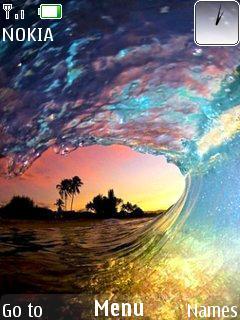 Sea Waves Mobile Theme