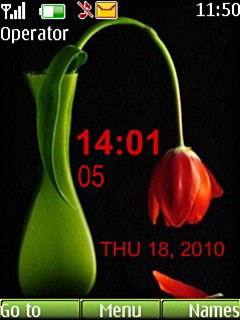 Red Tulip Mobile Theme