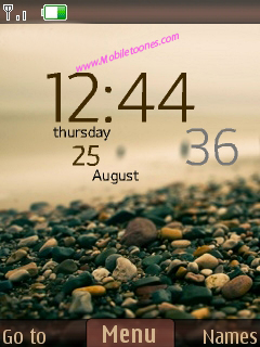 Beach View Clock Mobile Theme