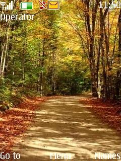 Autumn Road Mobile Theme