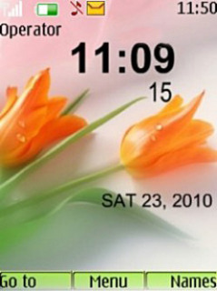 Flowers Clock Mobile Theme