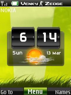 Fresh Nature Clock Mobile Theme
