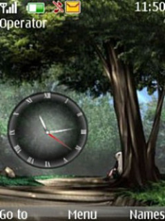 Nature Clock Mobile Theme