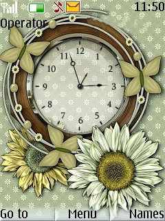 Flowers Brunch Clock Mobile Theme