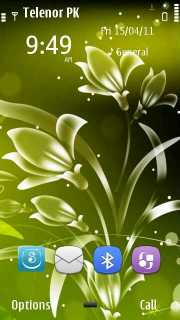 Green Flower Mobile Theme