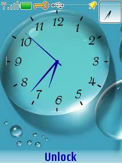Drop Clock Mobile Theme