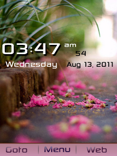 Fallen Flower Mobile Theme