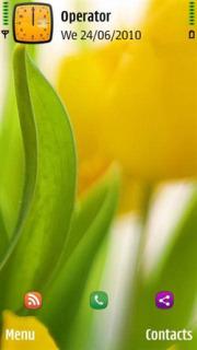 Yellow Tulip Flower Mobile Theme