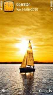Nature Sunset Ship Mobile Theme