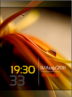 Silky Leaf Clock Nokia Theme Mobile Theme