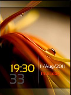 Silky Leaf Clock Nokia Theme Mobile Theme