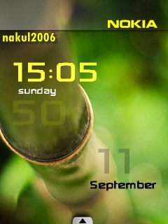 Bamboo Clock Mobile Theme