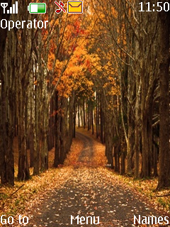 Autumn Road Mobile Theme