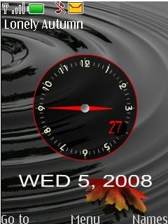Lonely Autumn Clock Mobile Theme