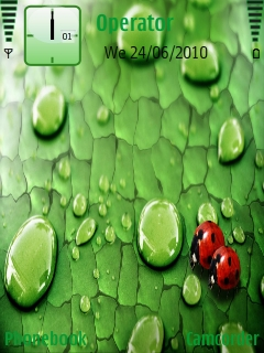 Bugs_on_leaf Mobile Theme
