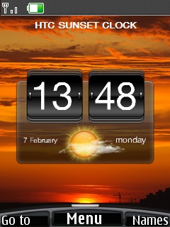 Htc Sunset Clock Mobile Theme