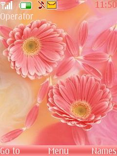 Cute Flower Mobile Theme