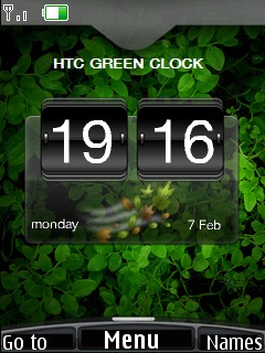 Htc Green Clock Mobile Theme