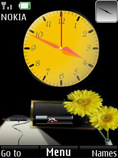 Flower Clock Mobile Theme