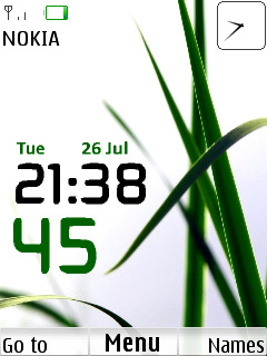 Grass Clock Mobile Theme