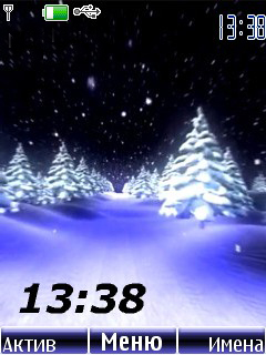 Winter Night Mobile Theme