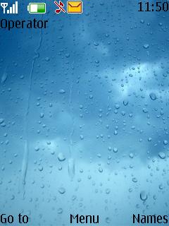 Water Drops Mobile Theme