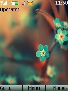 Lovely Flower Mobile Theme
