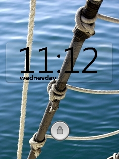 Sea Side Clock Mobile Theme