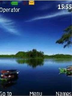 Beautiful Lake Mobile Theme