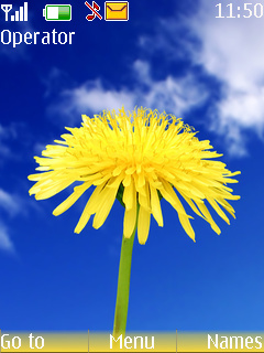 Yellow Flower Mobile Theme