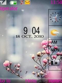 Pinky Fog Mobile Theme