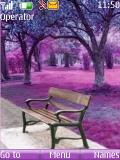 Purple View And Bench Mobile Theme