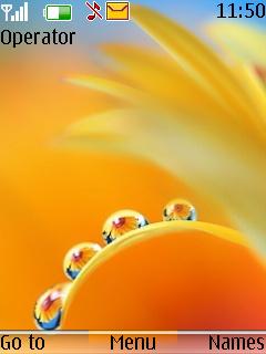 Flower Drops Mobile Theme