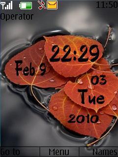 Leaves Clock Mobile Theme