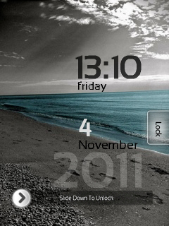 Dreamy Breeze Clock Mobile Theme