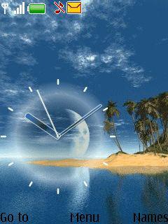 Clock Beach Mobile Theme