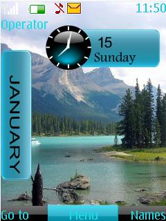 Nature Clock Nokia Theme Mobile Theme
