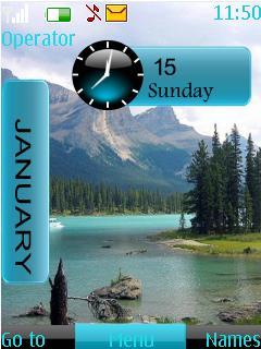Nature Clock Nokia Theme Mobile Theme