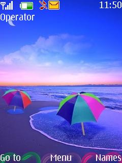 Colored Beach Mobile Theme