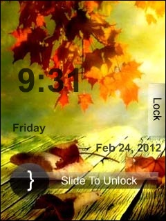 Autumn Clock Mobile Theme
