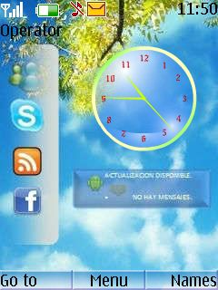 New Menu Style Clock Mobile Theme