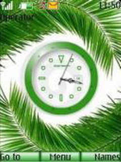 Swf Green Clock Mobile Theme