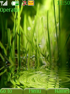 Green Water Mobile Theme