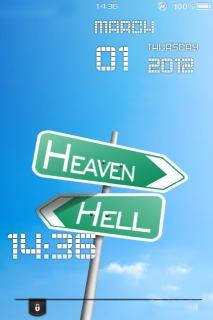 Heaven Hell Mobile Theme