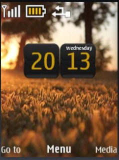 Nature Hd Clock Mobile Theme