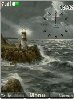 Swf Sea Wave Clock Mobile Theme