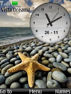 Vista Dock Clock Mobile Theme