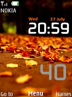 Android Nature Clock Mobile Theme