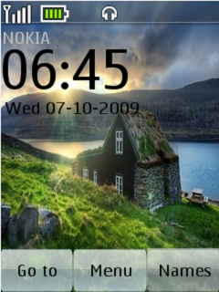 Beautiful Clock Nature Mobile Theme