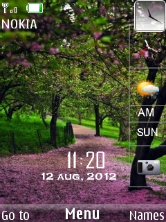 Heaven Way Clock Mobile Theme